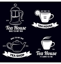 Tea related labels and quotes setdesign elements vector