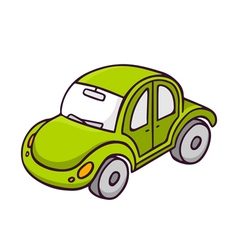 Toy car bright children isolated on white vector