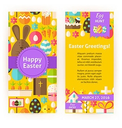 Vertical flyers for happy easter holiday vector