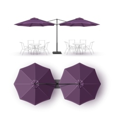 Violet Outdoor Beach Restaurant Umbrella Mock up vector image vector image