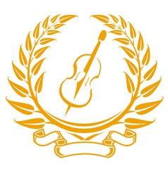 violin symbol vector image