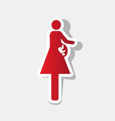 women and baby sign new year reddish icon vector image vector image