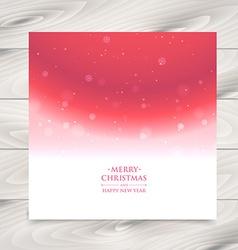 Snowflakes card vector