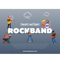 Concert and events rockband banner vector