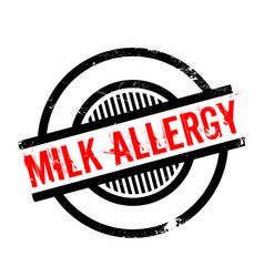Milk allergy rubber stamp vector