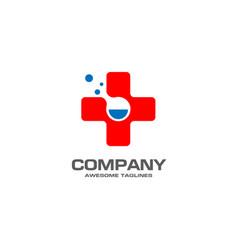 Pharmacy medicine with lab icon concept vector