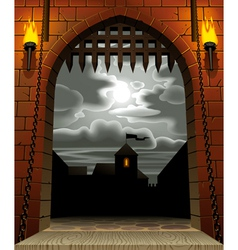 Castle gate vector image