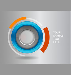 3D circle frame on a white background vector image vector image