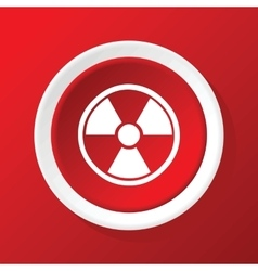 Hazard icon on red vector