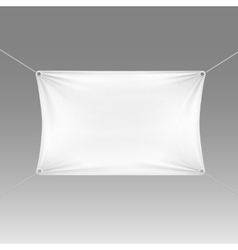 White blank empty horizontal rectangular banner vector