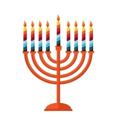 Happy hanukkah jewish holiday hanukkah meora vector