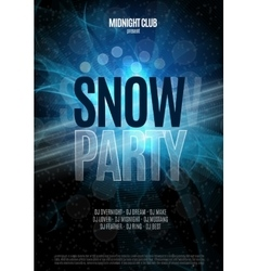 Christmas snow party flyer vector