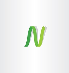 Letter n logo green logotype icon sign vector