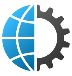 Global industry gradient icon vector