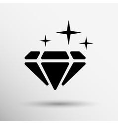 a blue diamond icon glitter icon vector image