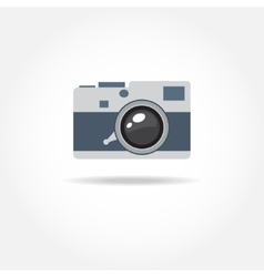 Abstract camera logo logotype design vector image