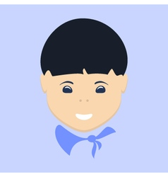Asian boy face isolated vector