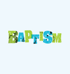 baptism concept stamped word art vector image vector image