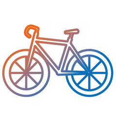 Bicycle race isolated icon vector