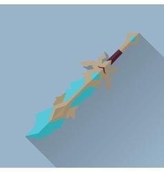 Cartoon Game Sword with Shadow War Concept vector image vector image