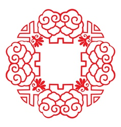 Chinese style patterns vector image vector image