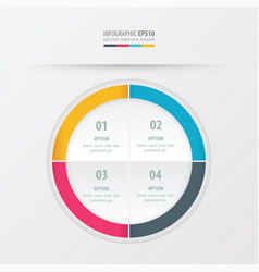 Circle presentation template yellow blue pink vector