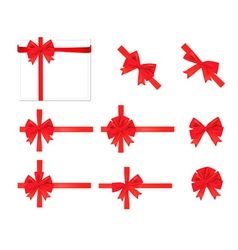 collection of red bows vector vector image