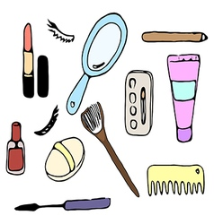 cosmetic for woman vector image vector image