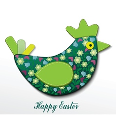 Easter card with hen vector image vector image