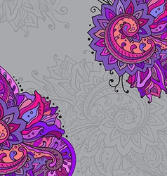 frame of the indian floral ornament vector image vector image