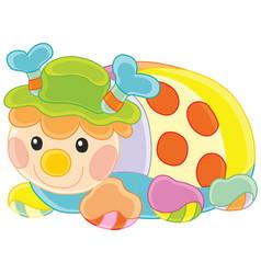 funny toy ladybug vector image vector image