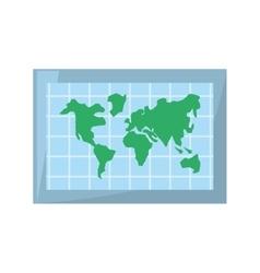 Globe world map location vector
