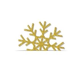 Golden Christmas snowflake vector image