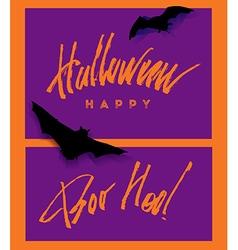 Happy helloween lettering handwritten vector