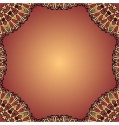 Henna coloured blank card decorative vintage vector