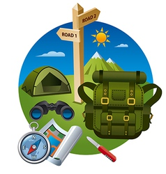 hiking icon concept vector image