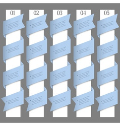 Numbered banners in origami style vector image