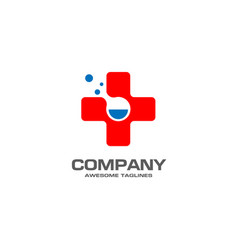 Pharmacy medicine with lab icon concept vector