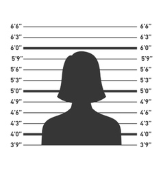 Police lineup with woman silhouette vector