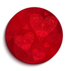 Red circle pattern for valentines day vector