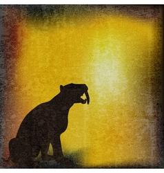 sabretoothed tiger vector image vector image
