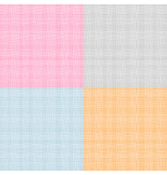 Set of Fabric Texture vector image