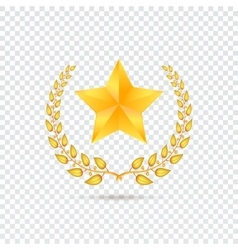 Star on transparent background vector image