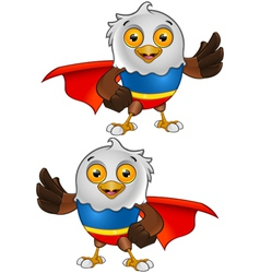 Super Bald Eagle Character 3 vector image