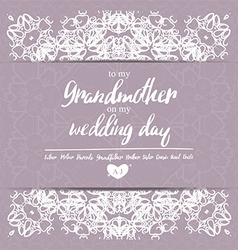 Thank You Card on my Wedding day vector image vector image