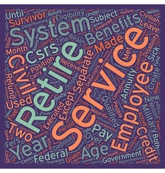 The civil service retirement system text vector