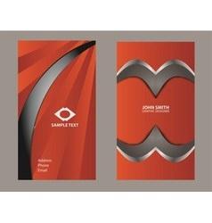 vertical orange business card vector image vector image