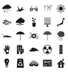 Very bad weather icons set simple style vector