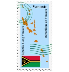 mail to-from Vanuatu vector image
