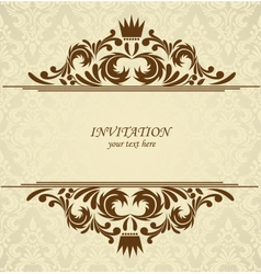 Background with damask pattern vector image